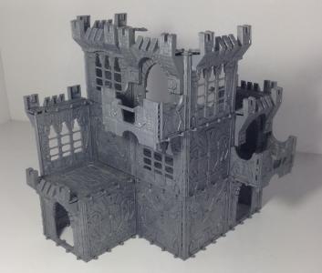 """Строительный набор крепость из набора """"Битва за маяк"""", новая версия, 11 отливок"""