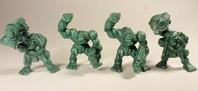 Отряд космические Орки, 4 коллекционные фигурки, цвет зелёный, Технолог