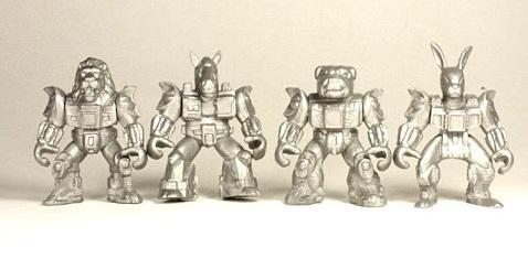 Отряд ЗвеРоботов 90-х №1, 4 коллекционные фигурки, цвет серый, Технолог